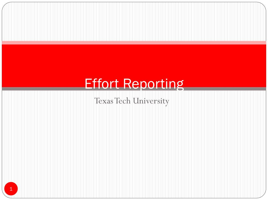 effort reporting l.