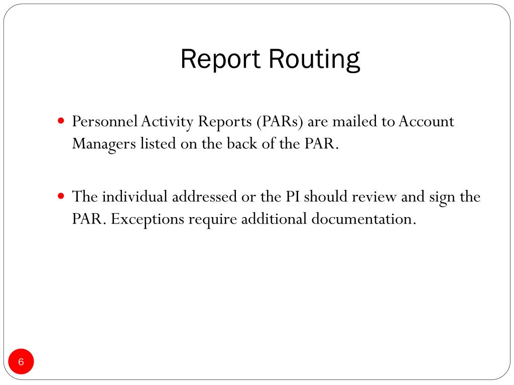 Report Routing
