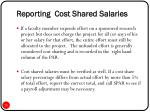 reporting cost shared salaries