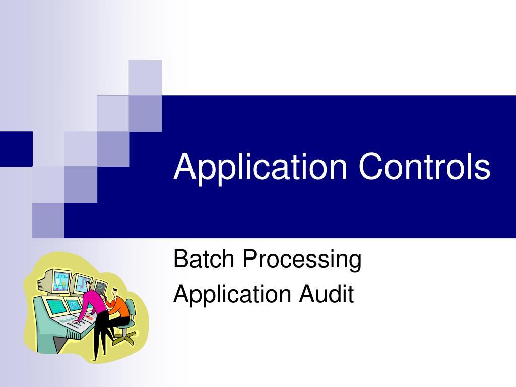 application controls l.