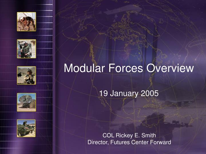 Modular Forces Overview