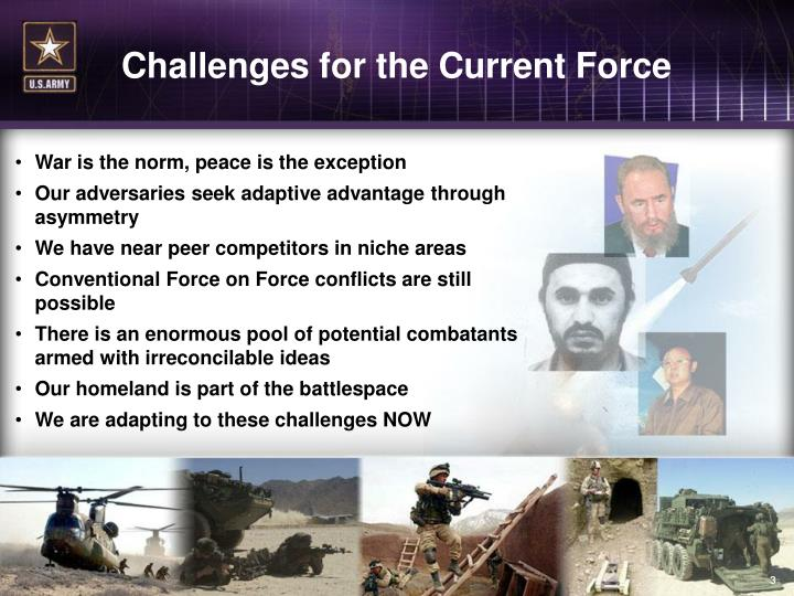 Challenges for the Current Force