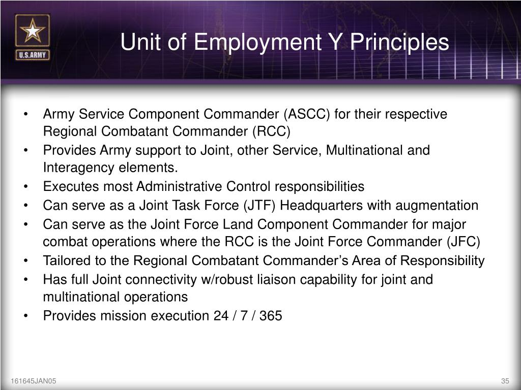 Unit of Employment Y Principles
