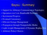 bayou summary