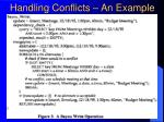 handling conflicts an example