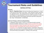 tournament rules and guidelines28
