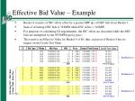 effective bid value example