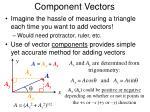 component vectors