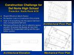 construction challenge for del norte high school production studio room a150