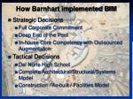 how barnhart implemented bim5