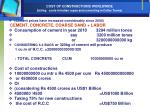 cost of constructions worldwide us ing costs in indian rupee and converting in dollar terms