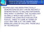 demostration of technology can also be made on demand