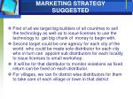 marketing strategy suggested
