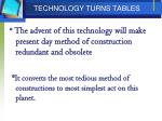 technology turns tables
