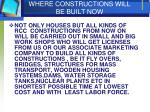 where constructions will be built now