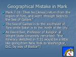 geographical mistake in mark