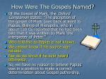 how were the gospels named
