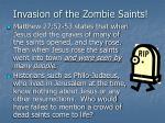 invasion of the zombie saints