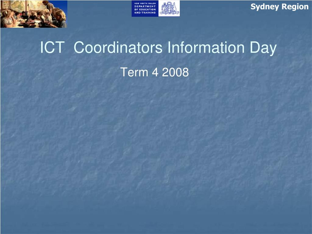 ict coordinators information day l.