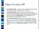 object creation api