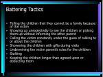 battering tactics