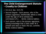 the child endangerment statute cruelty to children