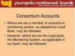consortium accounts