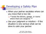 developing a safety plan