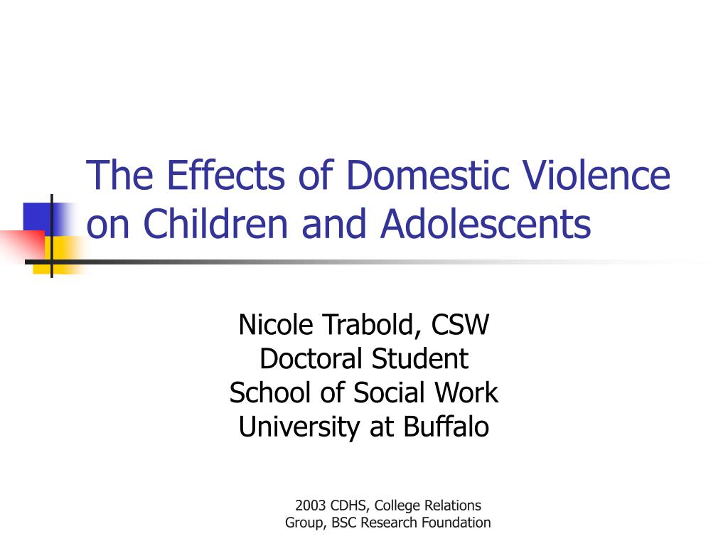 the effects of domestic violence on children and adolescents l.