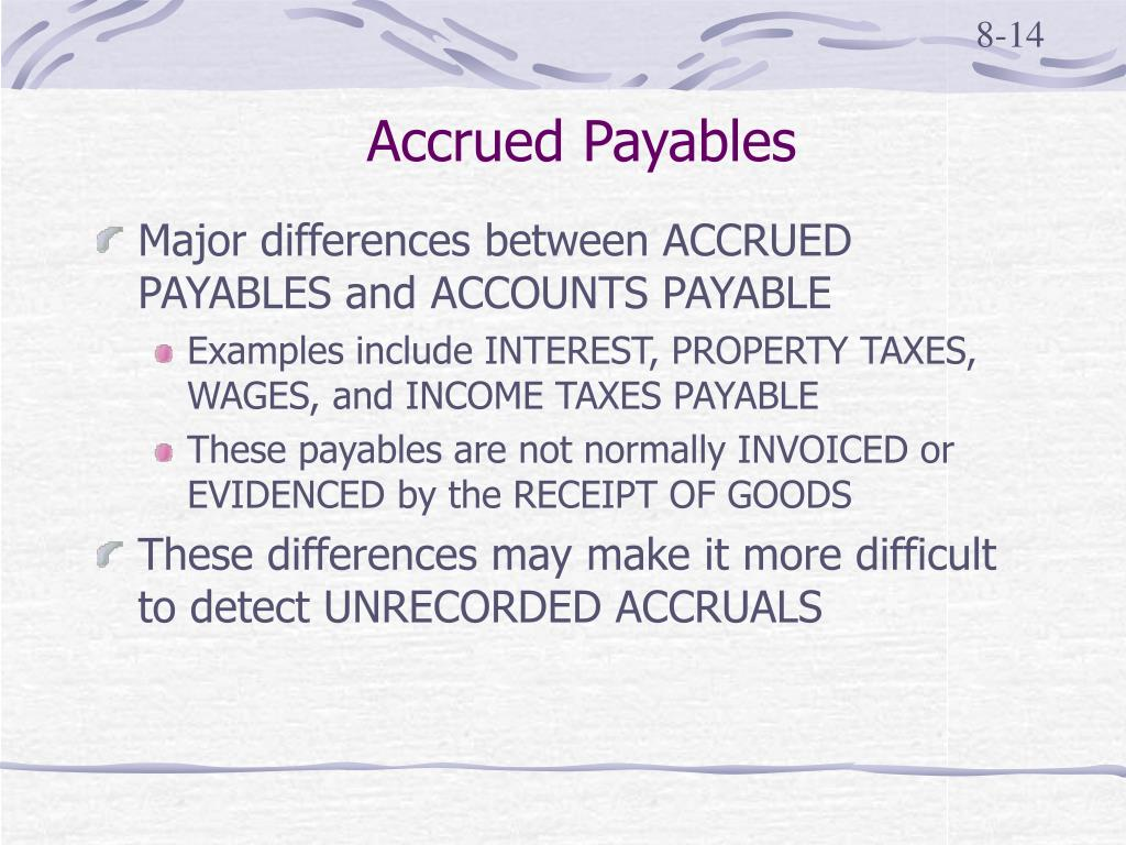 Accrued Payables