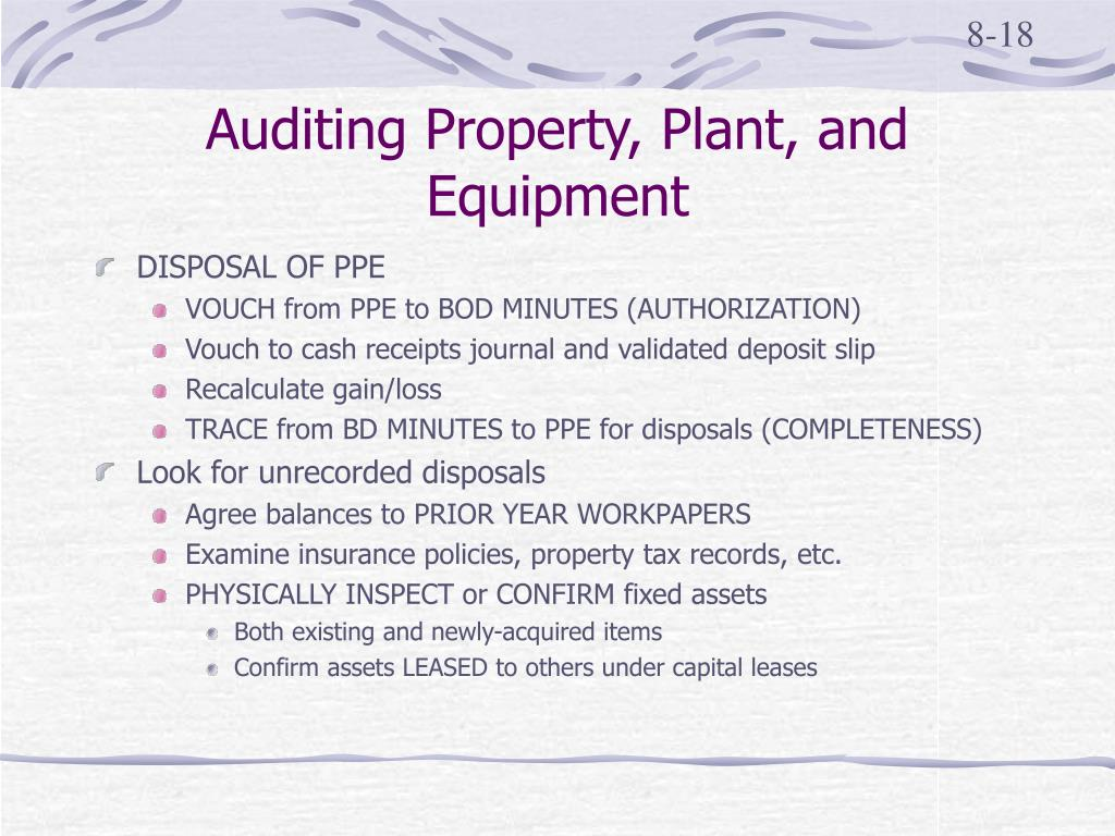 Auditing Property, Plant, and Equipment