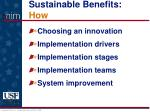 sustainable benefits how