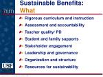sustainable benefits what