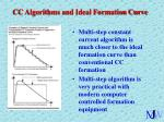 cc algorithms and ideal formation curve