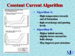 constant current algorithm