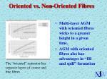 oriented vs non oriented fibres