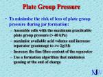 plate group pressure