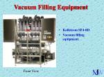 vacuum filling equipment12