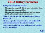 vrla battery formation
