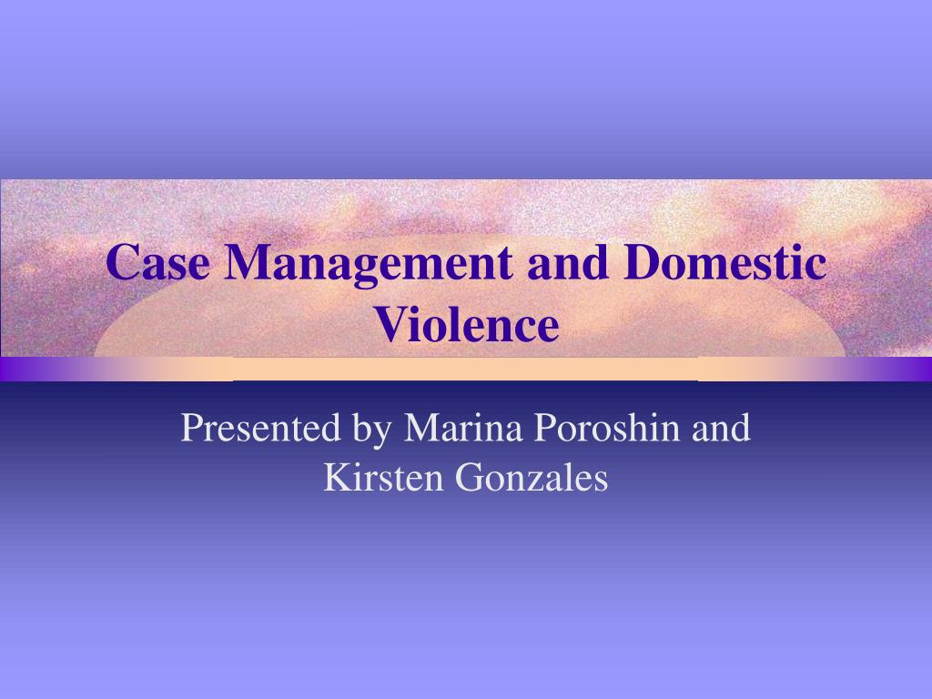 case management and domestic violence l.