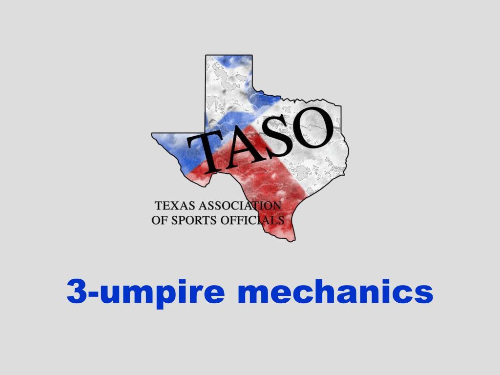 3 umpire mechanics l.