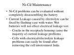 ni cd maintenance