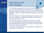 data sources for cost analyses