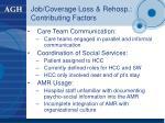 job coverage loss rehosp contributing factors