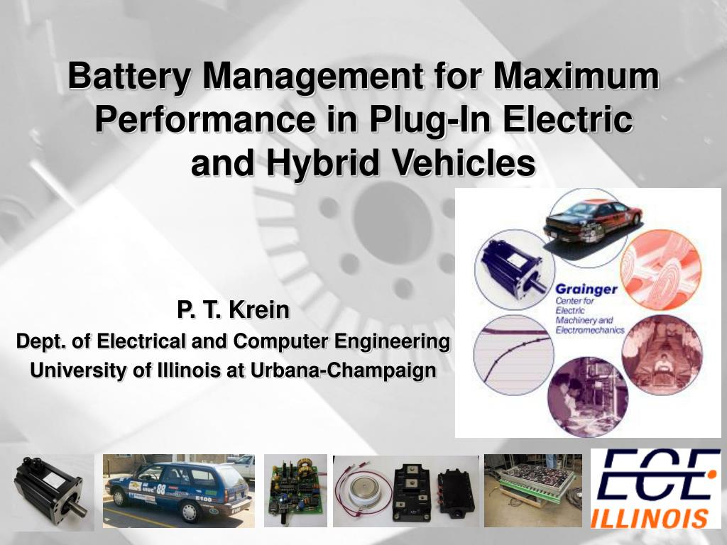 battery management for maximum performance in plug in electric and hybrid vehicles l.