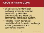 cpoe in action gcpr1