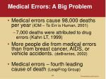 medical errors a big problem