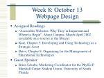 week 8 october 13 webpage design