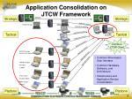 application consolidation on jtcw framework