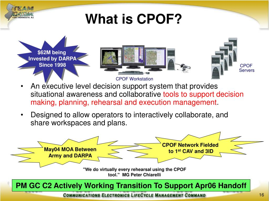 What is CPOF?